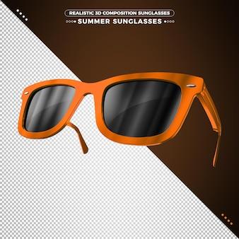 Летние очки в 3d-рендеринге изолированные