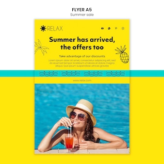 Summer has arrived flyer template