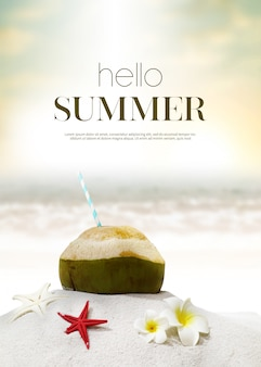 Summer holiday background & object