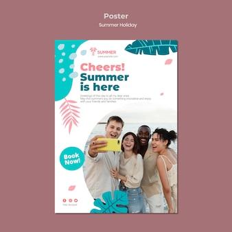 Modello di manifesto per le vacanze estive