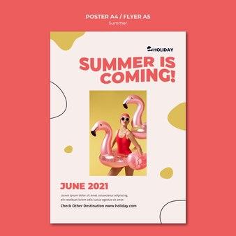L'estate sta arrivando modello di poster