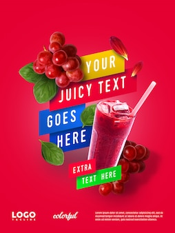 Summer juice рекламный плавающий баннер