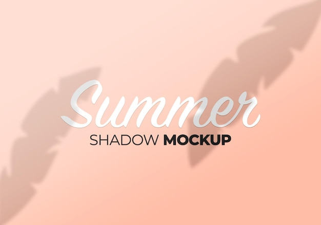 Summer leaves shadow mockup on wall