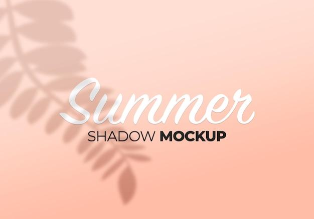 Summer leaves shadow overlay mockup on wall