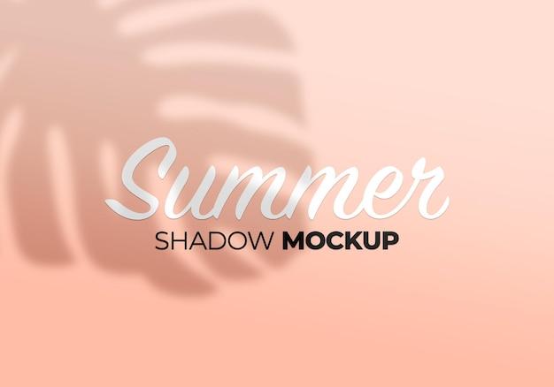 Summer monstera leaves shadow mockup on wall