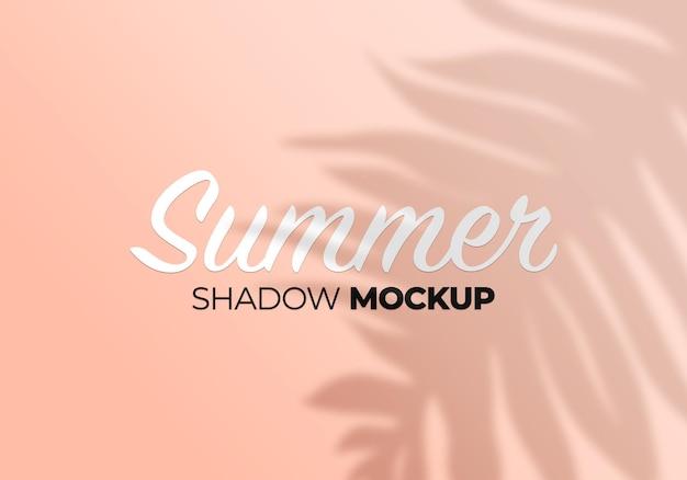 Summer palm leaves shadow overlay mockup on wall