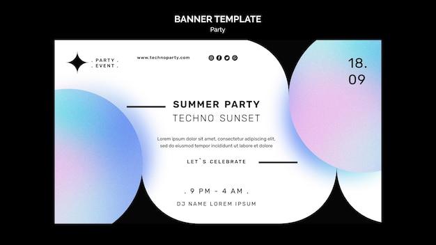 Modello di banner per feste estive Psd Gratuite