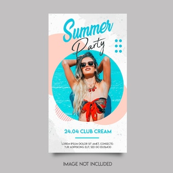 Summer party insta story template