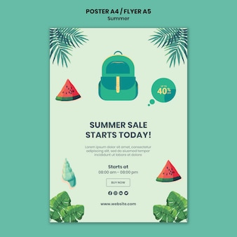 Summer poster or flyer template