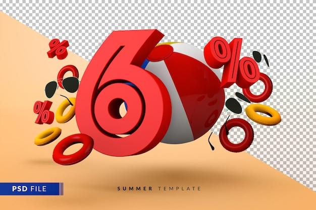 Летняя распродажа со скидкой 60% с изолированными пляжными аксессуарами