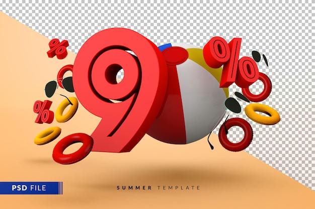 Летняя распродажа со скидкой 90% с изолированными пляжными аксессуарами