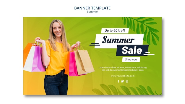 Summer sale banner template design