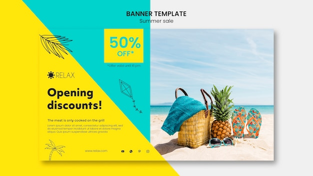 Summer sale banner template