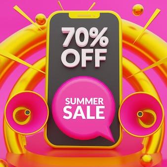여름 판매 배너 소셜 미디어 게시물 템플릿