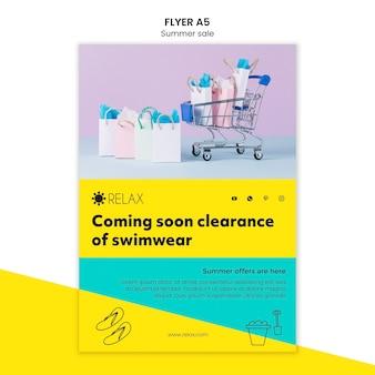 Summer sale flyer template concept