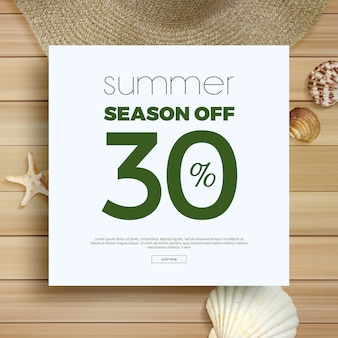 Summer sale frame & background