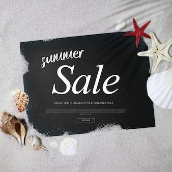 Summer sale frame & background