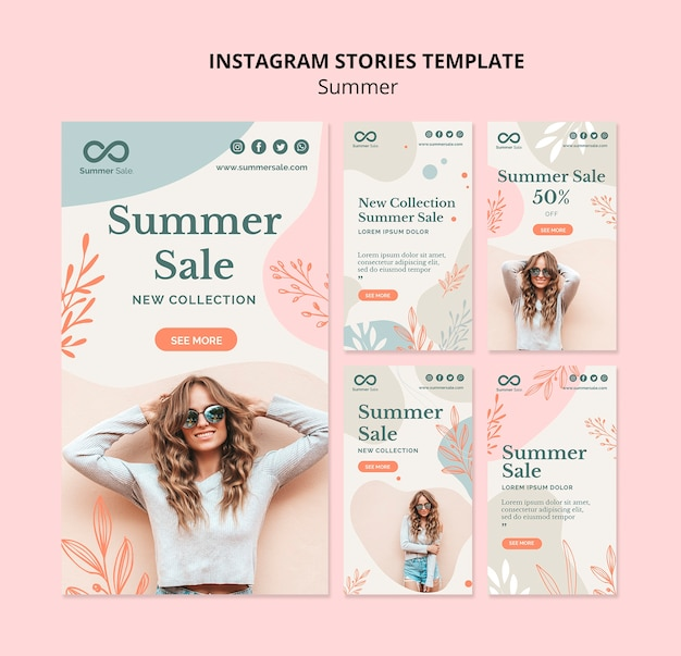 Summer sale instagram stories