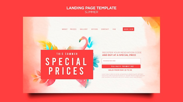 Summer sale landing page