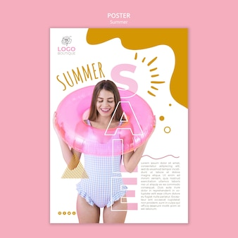Summer sale poster with photo