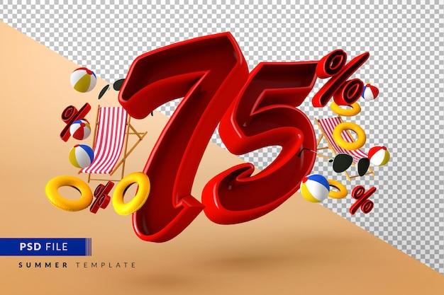 Летняя распродажа: скидка 75% на рекламные акции и пляжные аксессуары