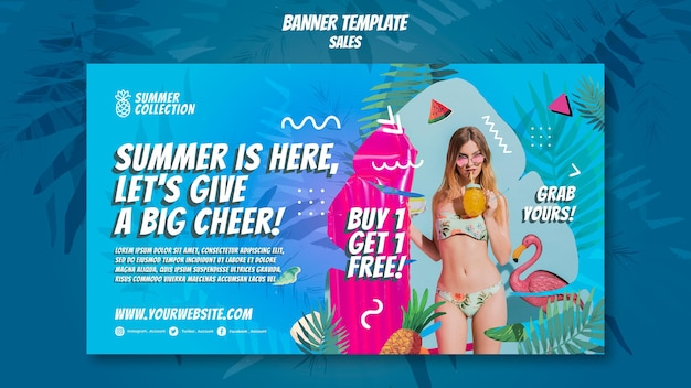 Шаблон баннера летних продаж