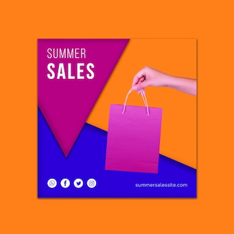 Summer sales cover template