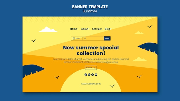 Шаблон целевой страницы летних распродаж