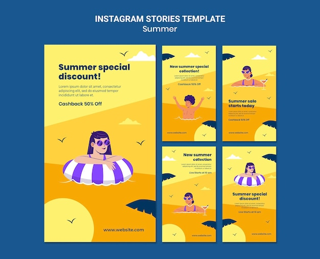Истории о летних распродажах в социальных сетях