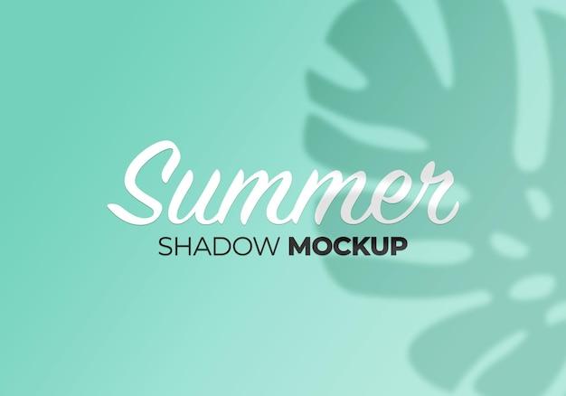 Summer of shadows monstera leaves mockup on wall