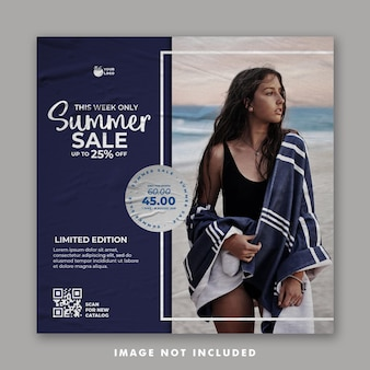 Summer social media post template for fashion holiday