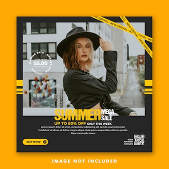 Summer social media post template for fashion