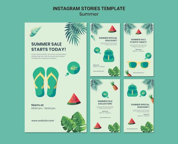 Summer social media stories