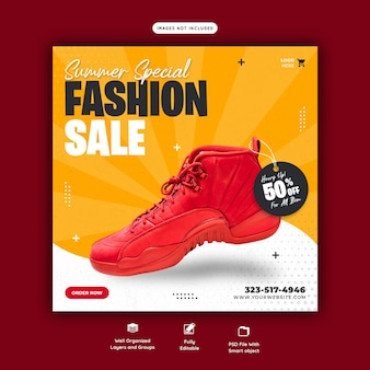 Summer special fashion sale instagram post template
