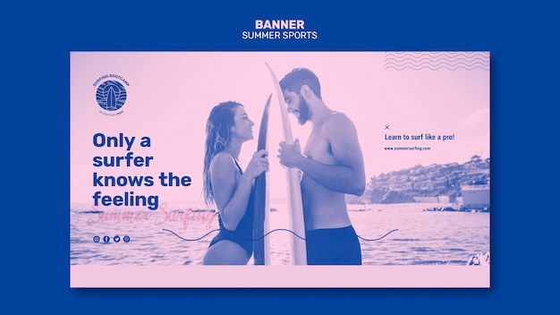 Summer sport banner design