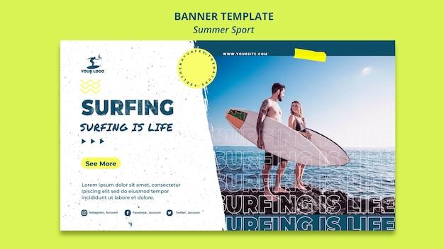 Summer sport banner template