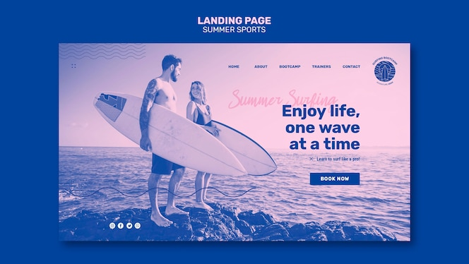 Summer sport landing page theme