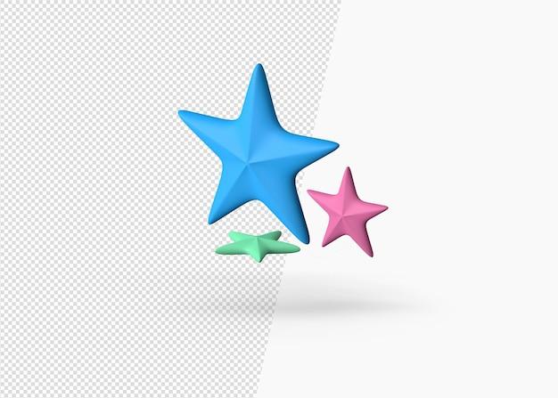 夏の星の分離 3 d レンダリング