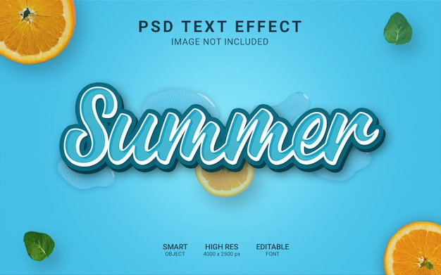 Summer text effect
