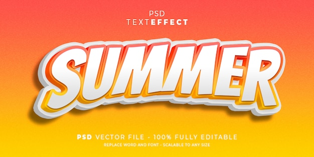 Summer text and font effect style