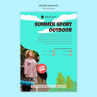 Summer travel template