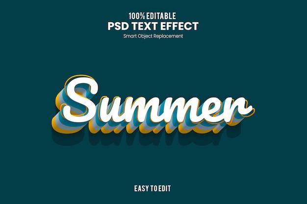 Эффект summertext