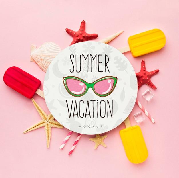 アイスクリームと夏のコンセプト