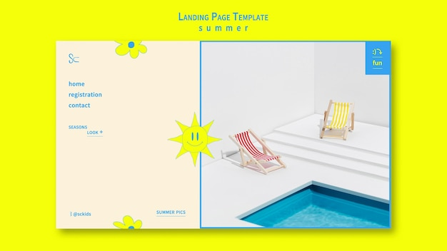 夏のランディングページ