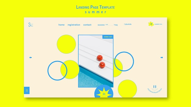 Summertime with pool landing page