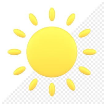 Значок солнца 3d