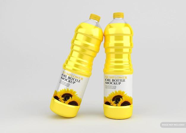 Изолированный макет бутылки подсолнечного масла