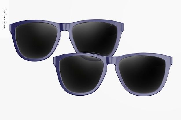 선글라스 모형, 전면보기