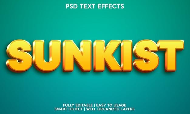Sunkist text effect