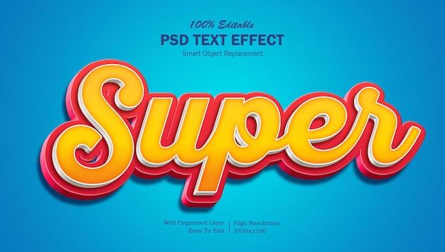 Текстовый эффект super 3d popup psd